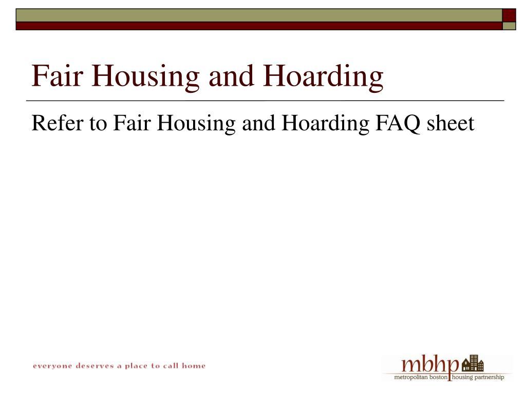 Fair Housing and Hoarding