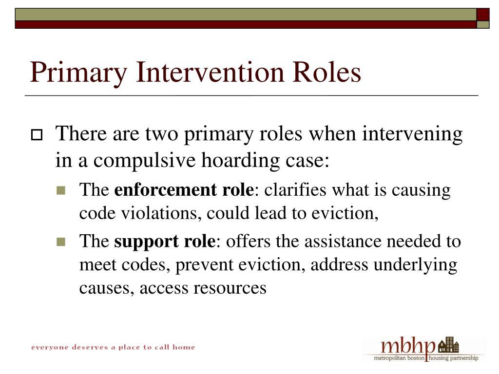 Primary Intervention Roles