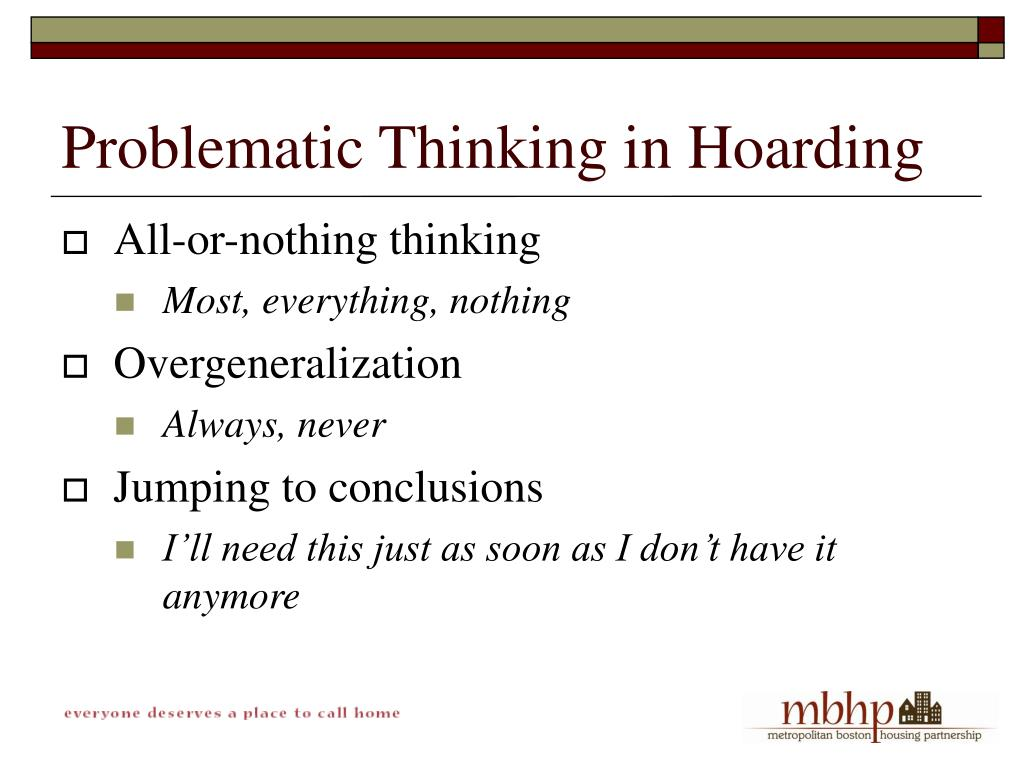 Problematic Thinking in Hoarding