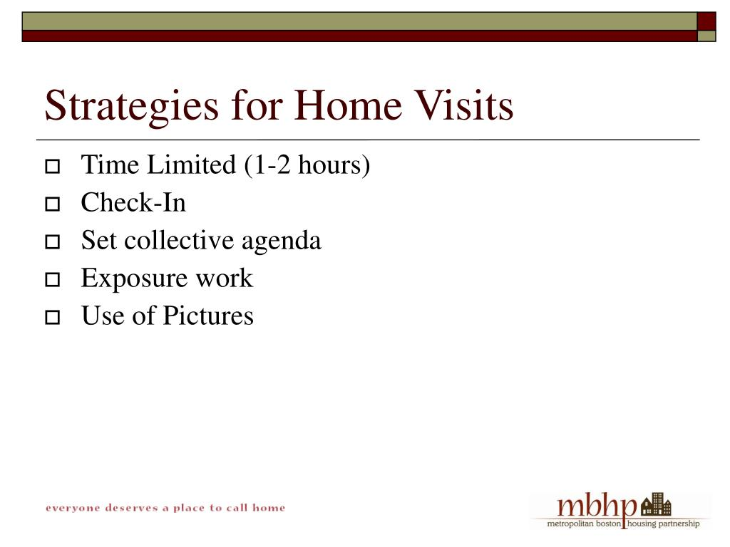Strategies for Home Visits