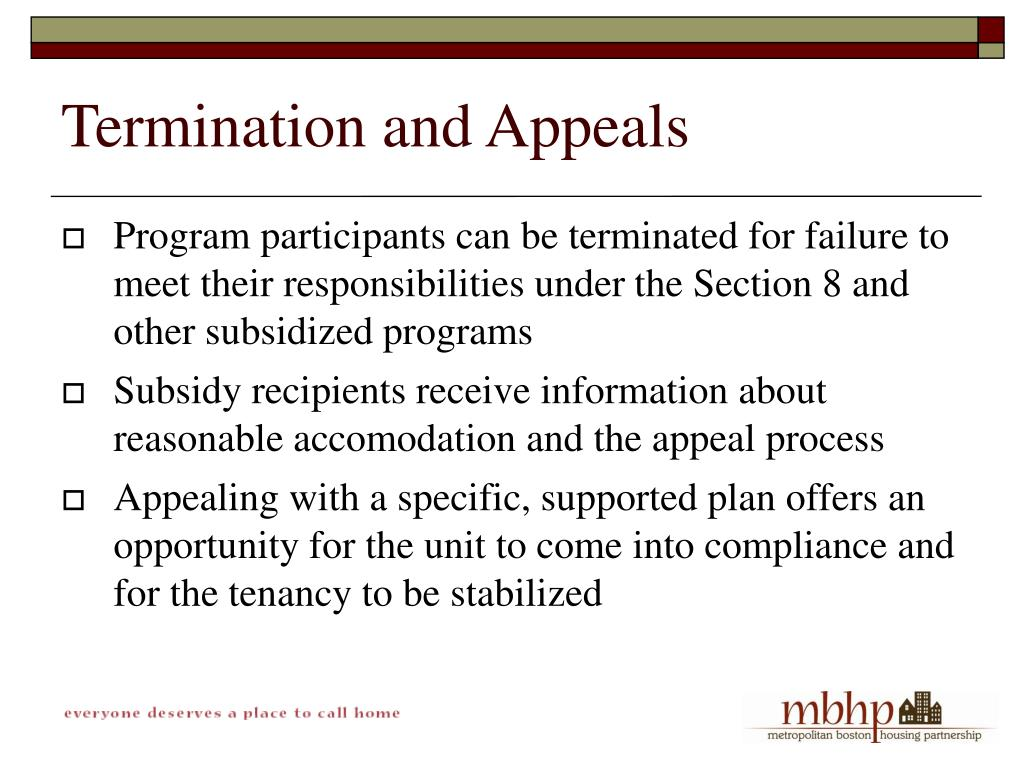 Termination and Appeals