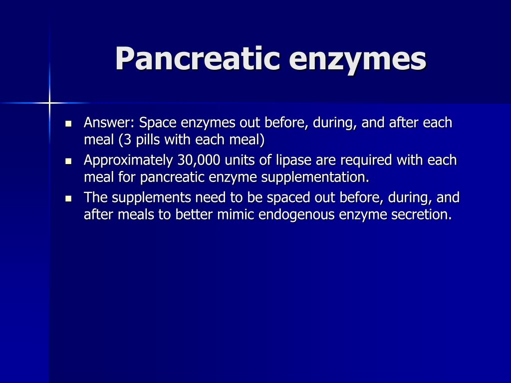 Pancreatic enzymes