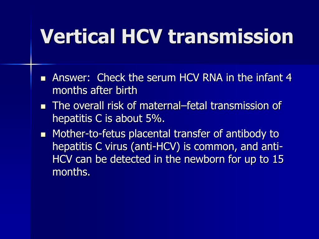 Vertical HCV transmission