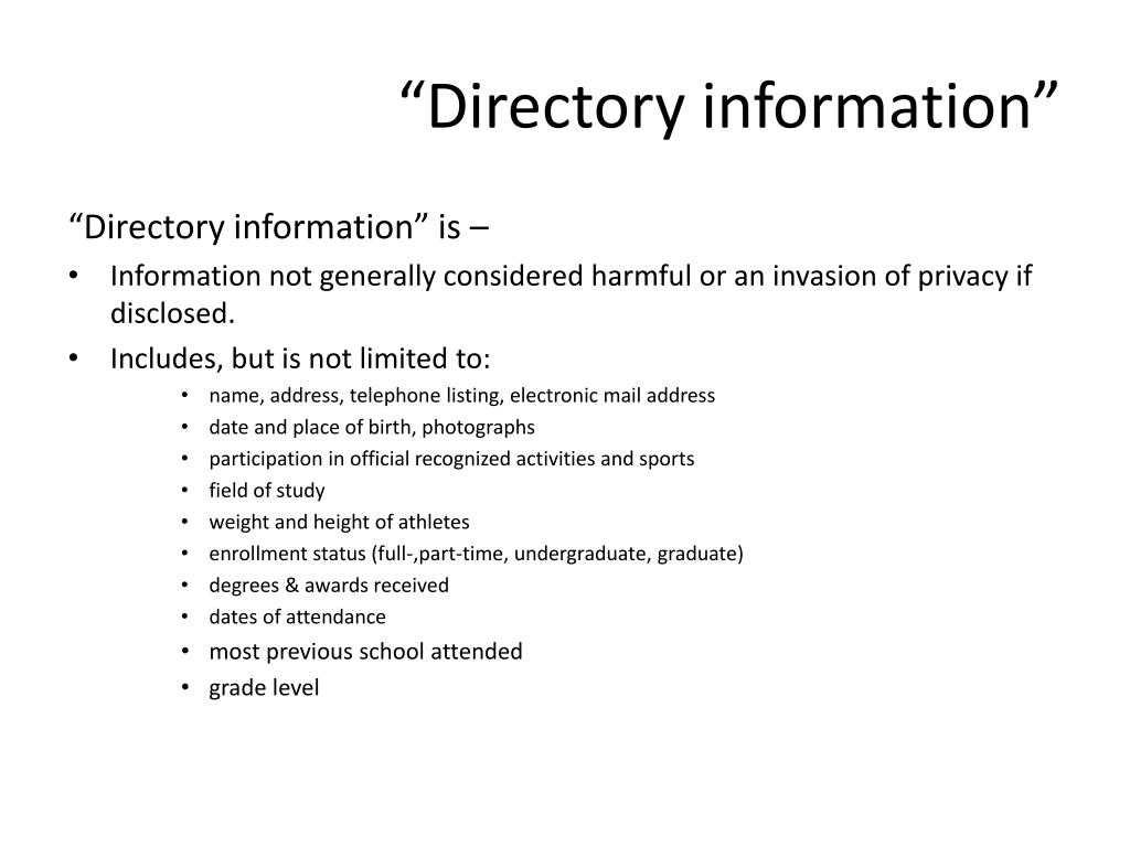 """""""Directory information"""""""
