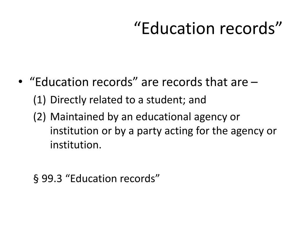 """Education records"""