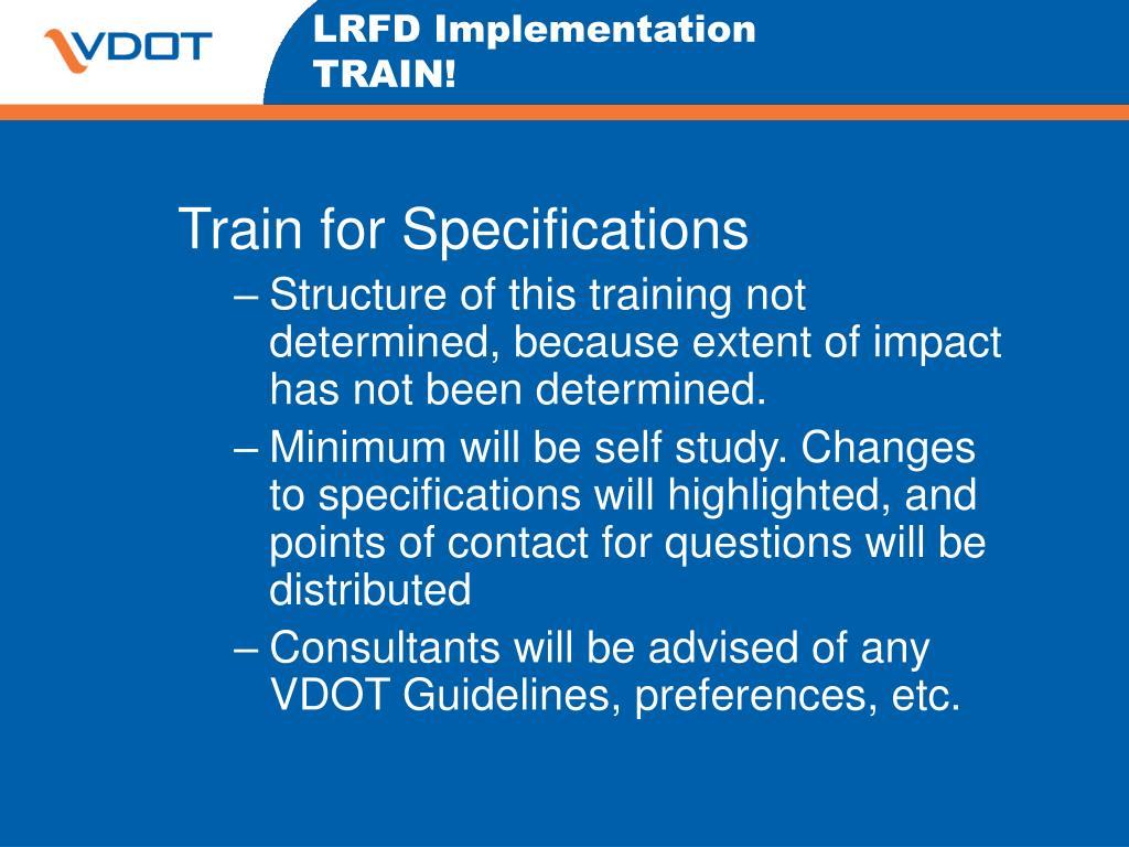 LRFD Implementation