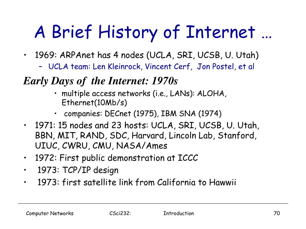 A Brief History of Internet …
