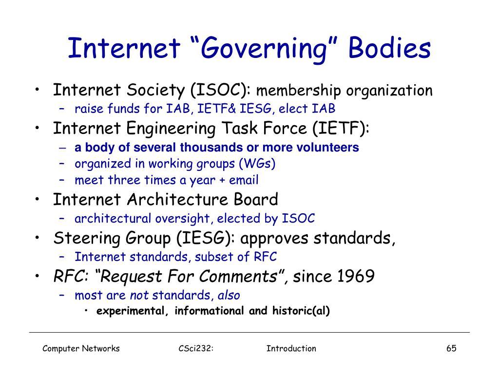"Internet ""Governing"" Bodies"