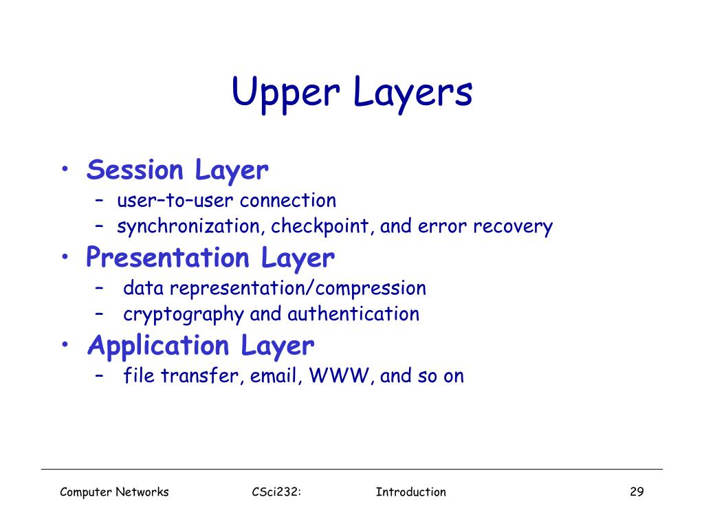 Upper Layers