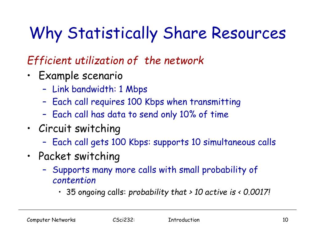 Why Statistically Share Resources