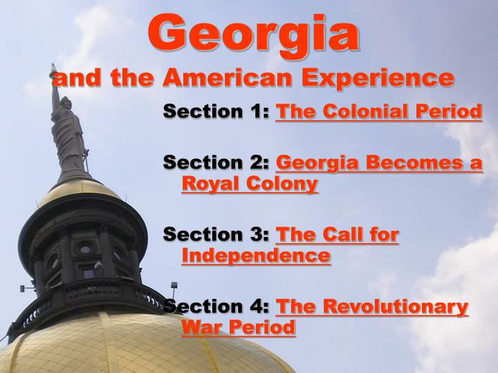 Georgia and the american experience2