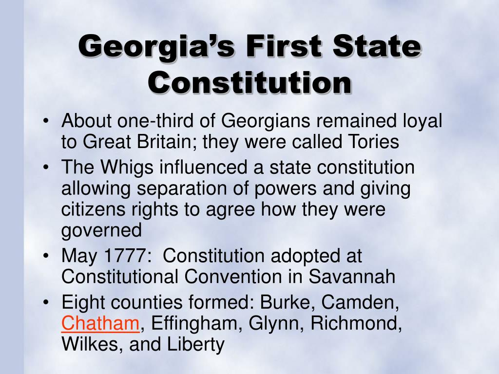 Georgia's First State Constitution