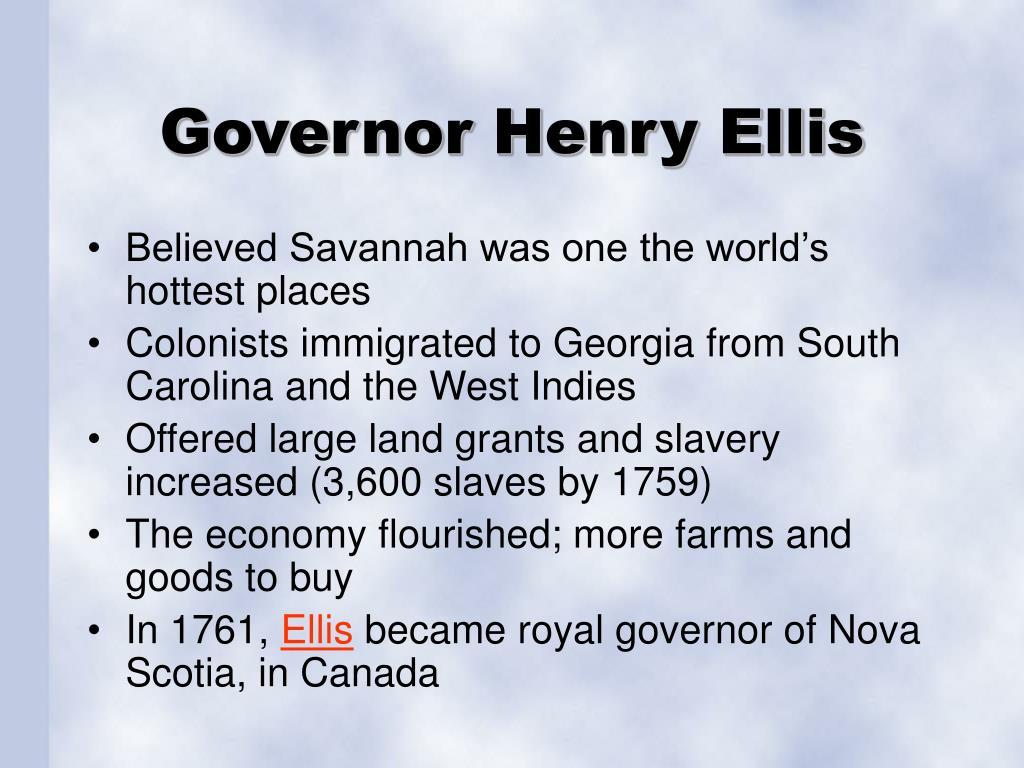 Governor Henry Ellis