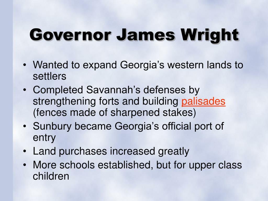 Governor James Wright