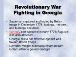 revolutionary war fighting in georgia
