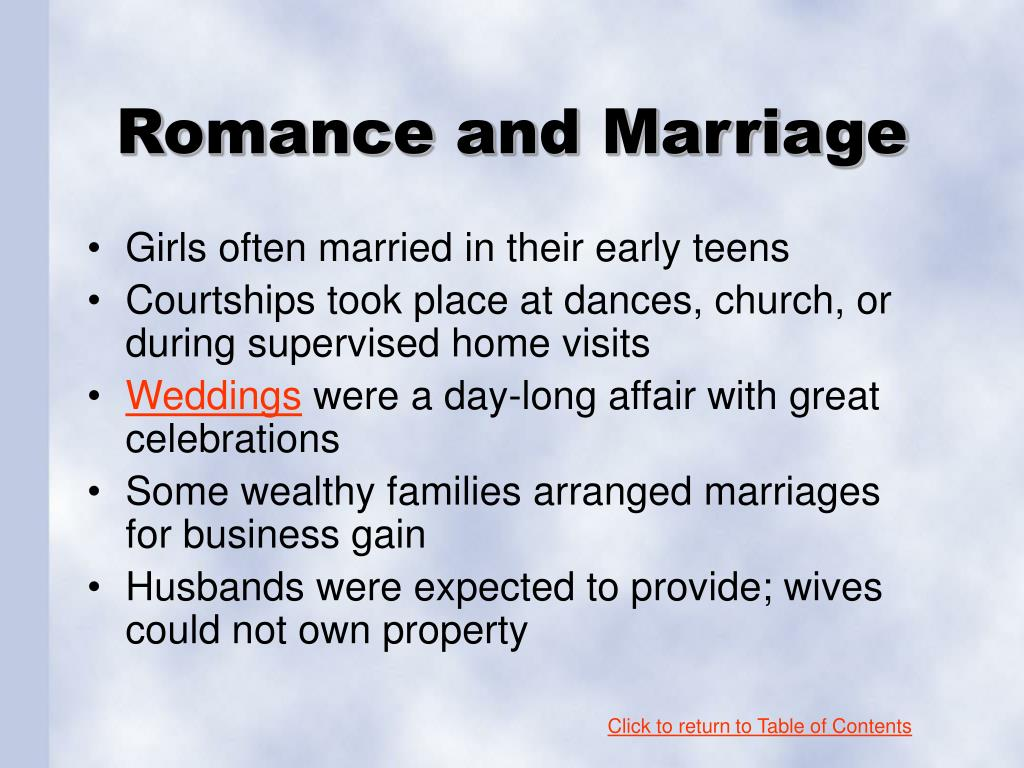 Romance and Marriage
