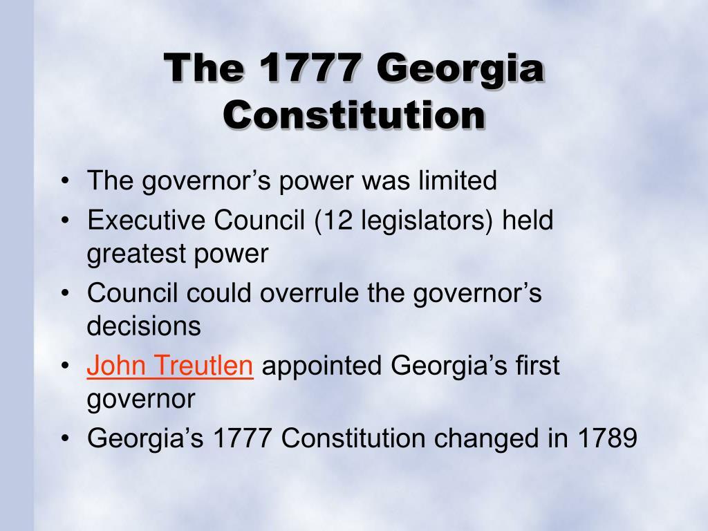 The 1777 Georgia Constitution
