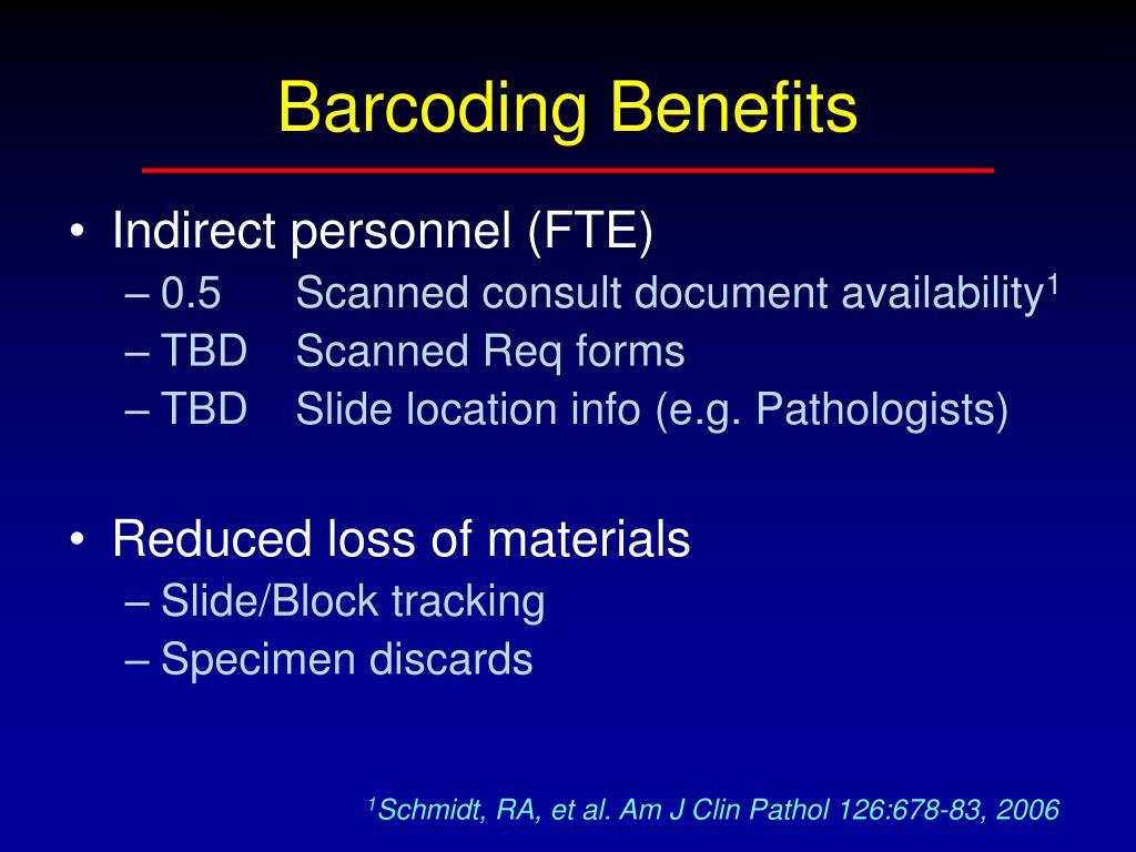 Barcoding Benefits