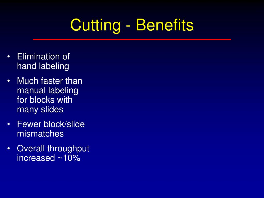 Cutting - Benefits