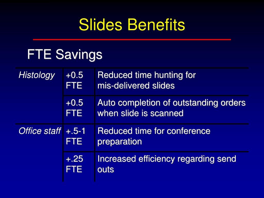 Slides Benefits