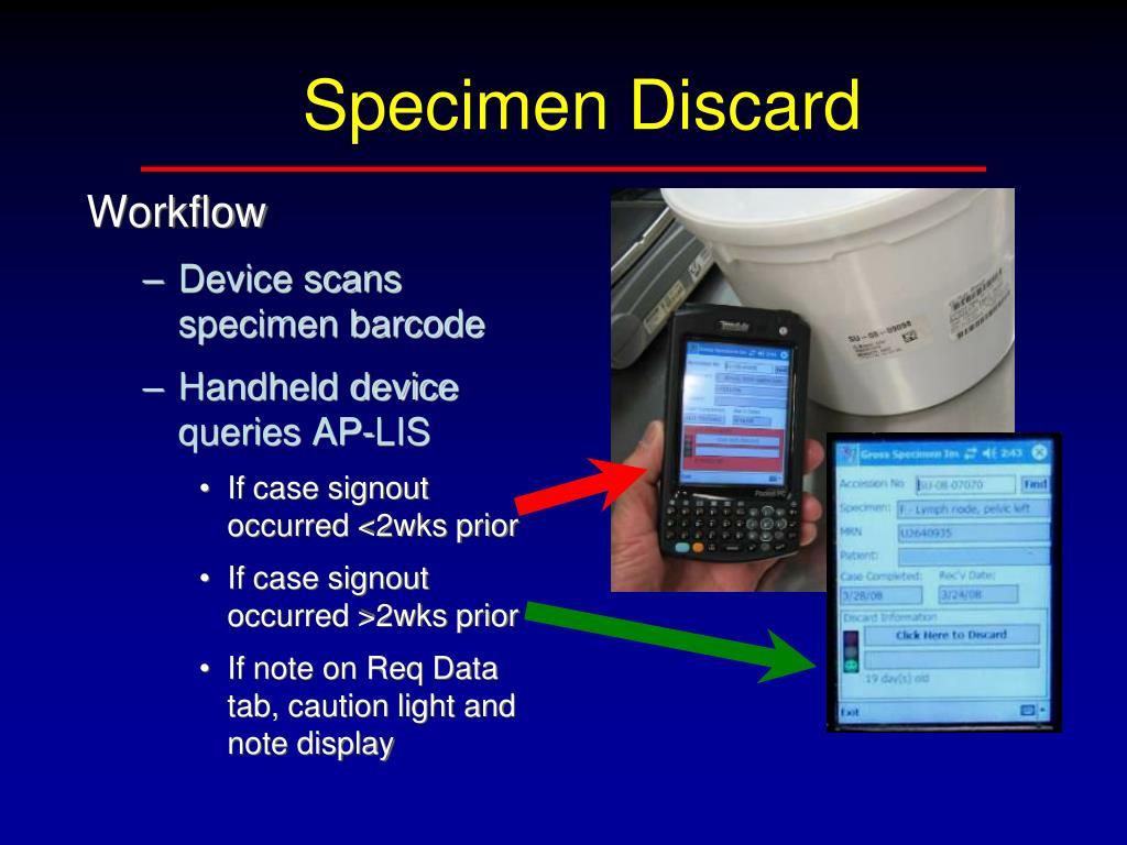 Specimen Discard