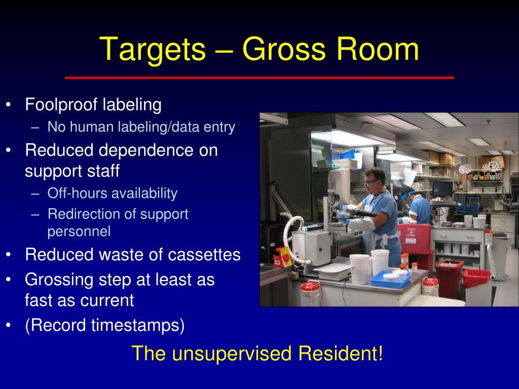 Targets – Gross Room
