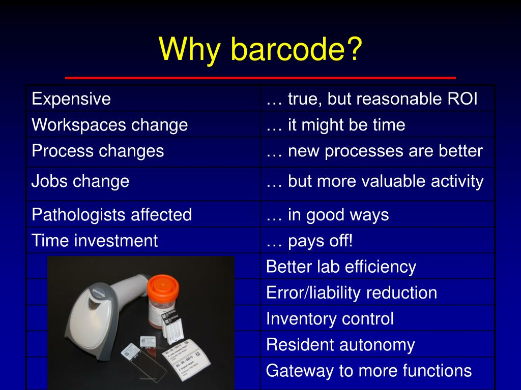 Why barcode?