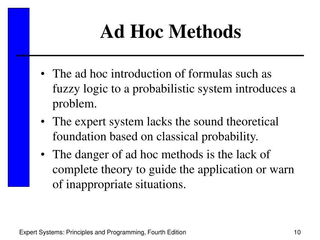 Ad Hoc Methods