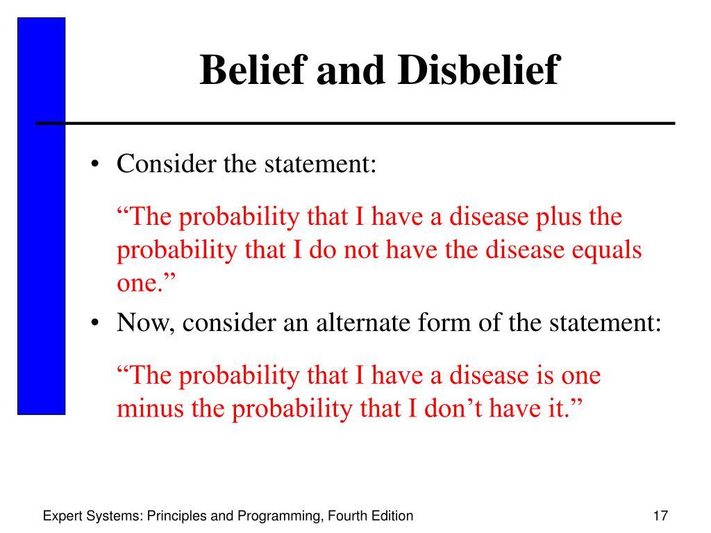 Belief and Disbelief