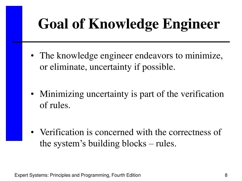 Goal of Knowledge Engineer