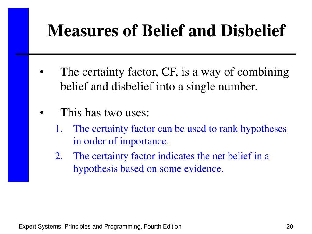 Measures of Belief and Disbelief