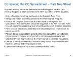 completing the cc spreadsheet part tree sheet
