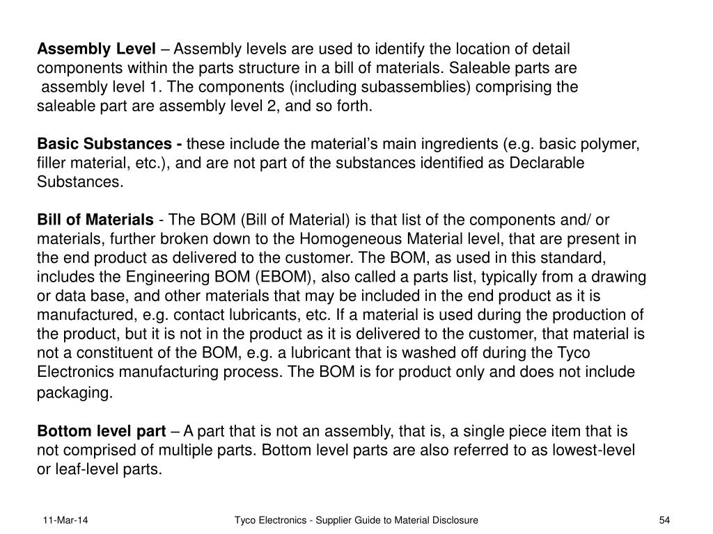 Assembly Level