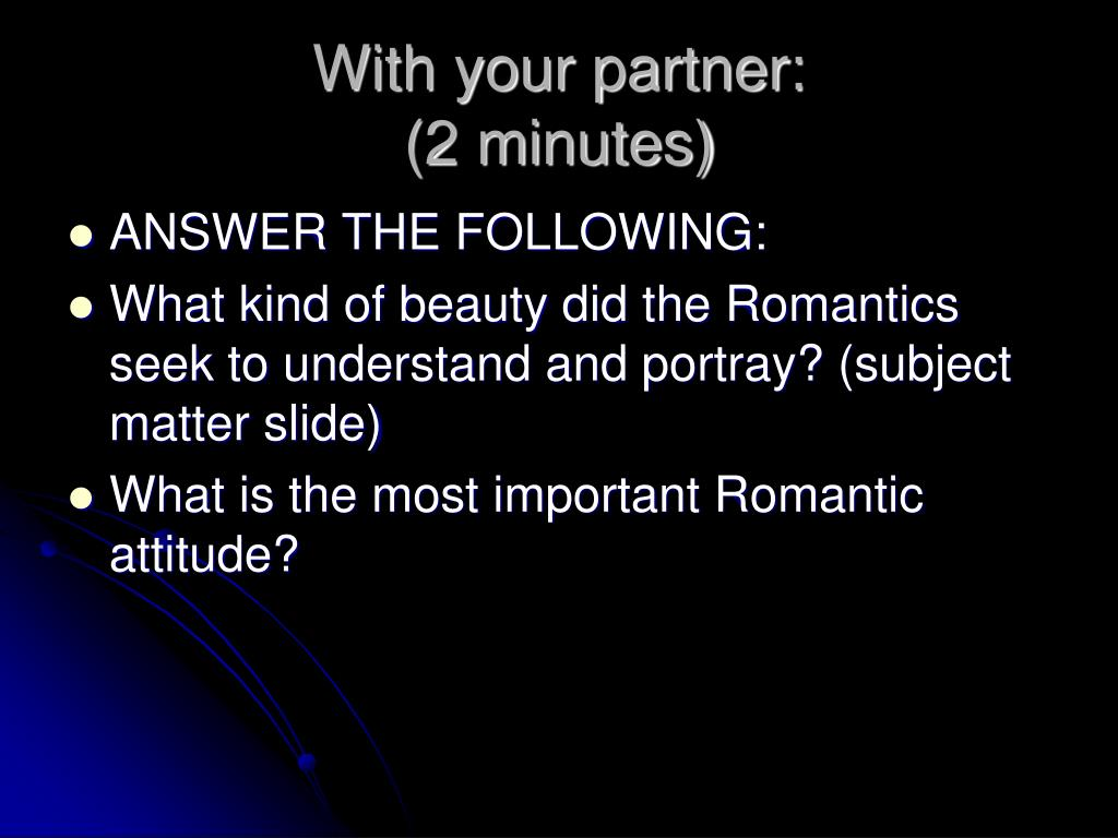 With your partner: