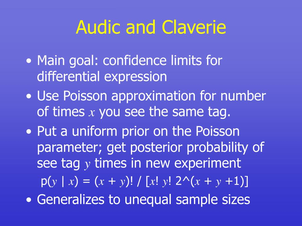 Audic and Claverie