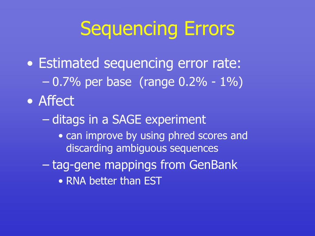 Sequencing Errors