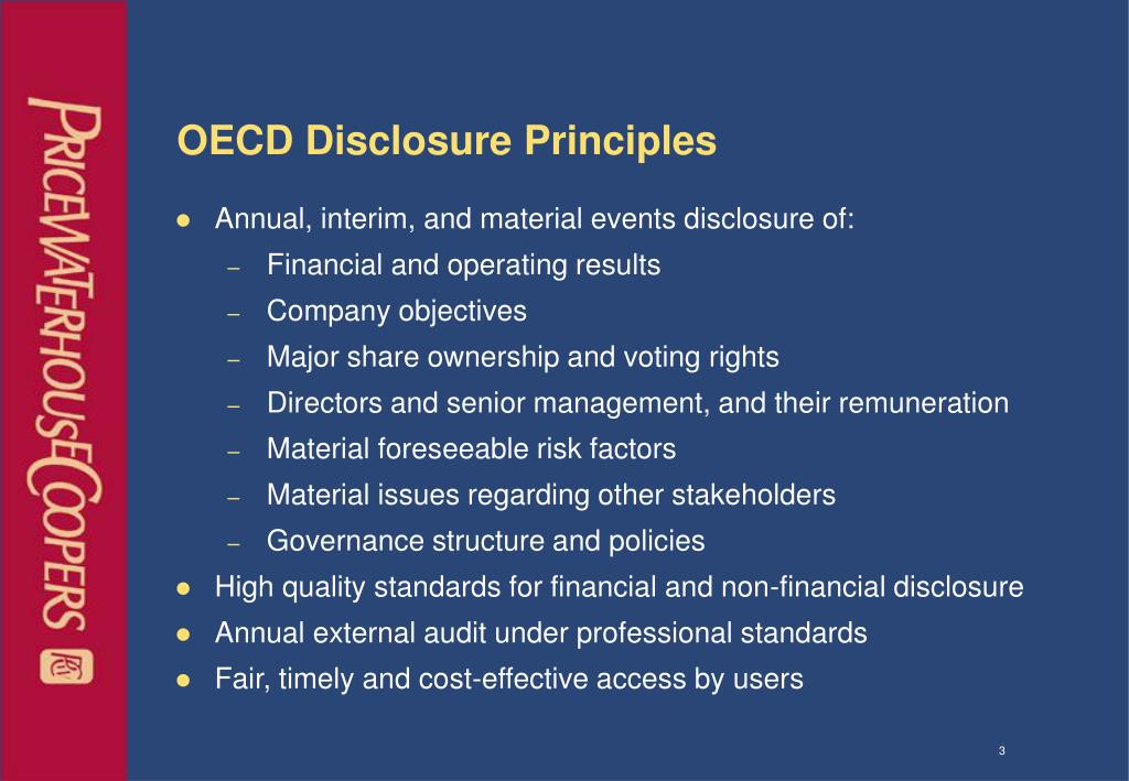 OECD Disclosure Principles