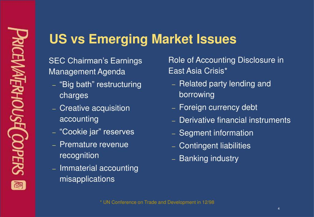SEC Chairman's Earnings Management Agenda