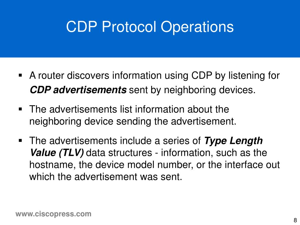 CDP Protocol Operations
