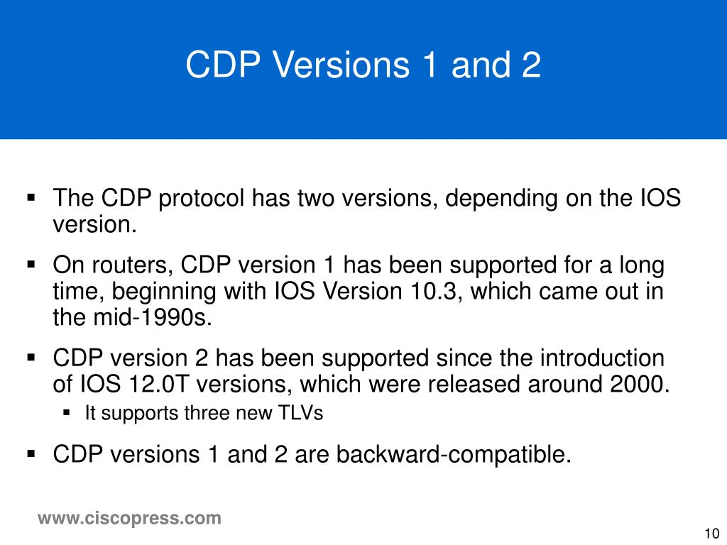 CDP Versions 1 and 2