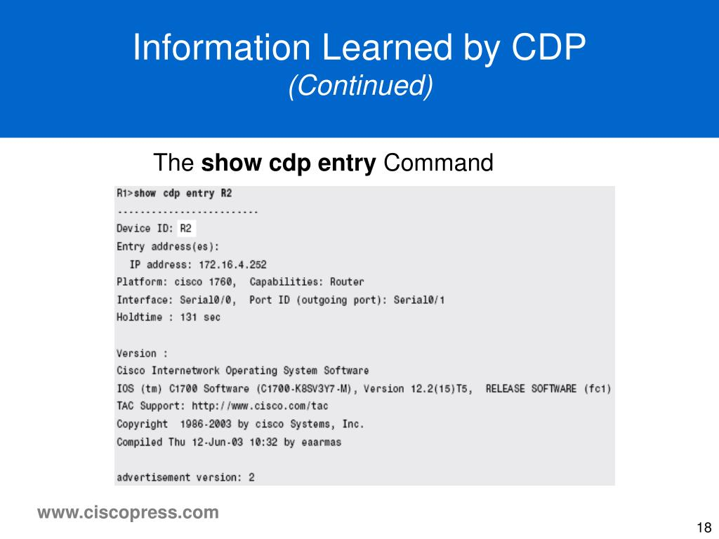 Information Learned by CDP