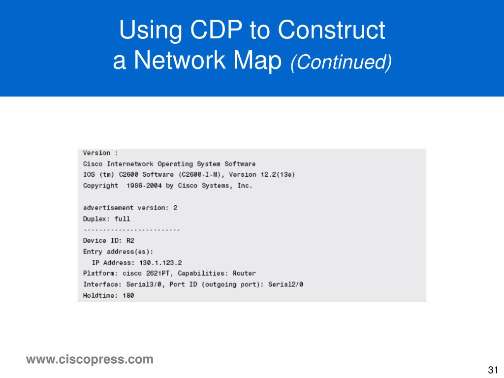 Using CDP to Construct