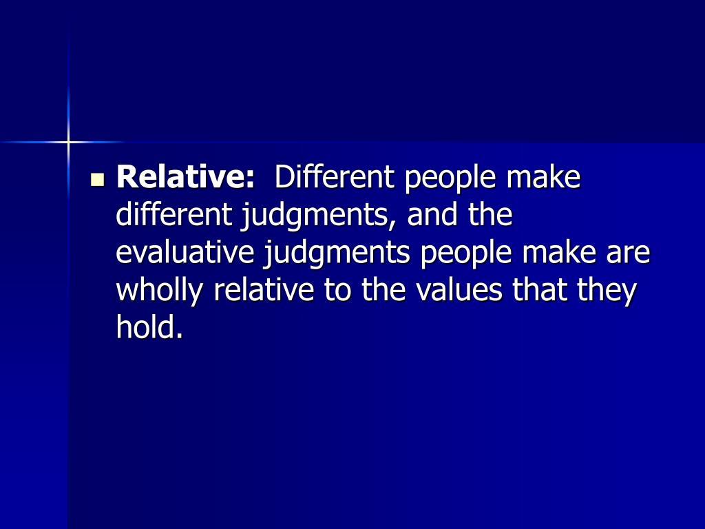 Relative: