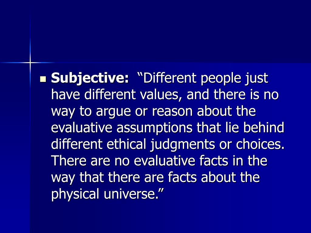 Subjective: