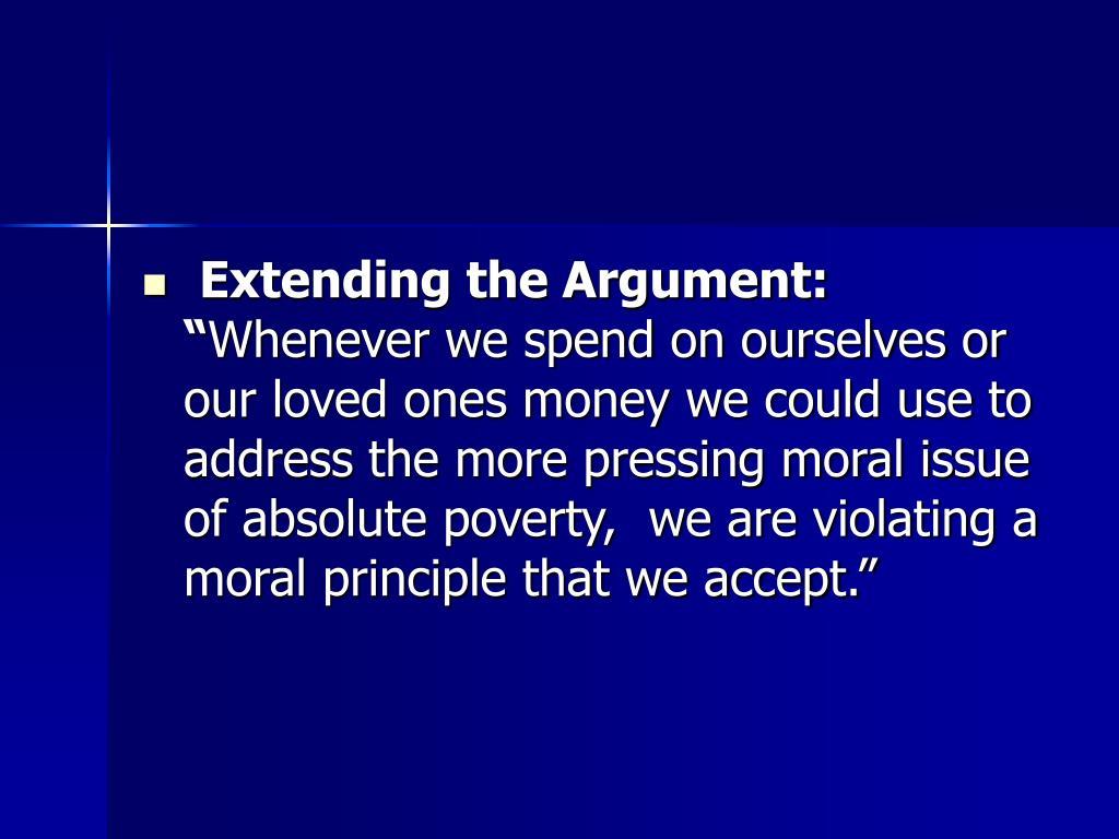 """Extending the Argument: """""""