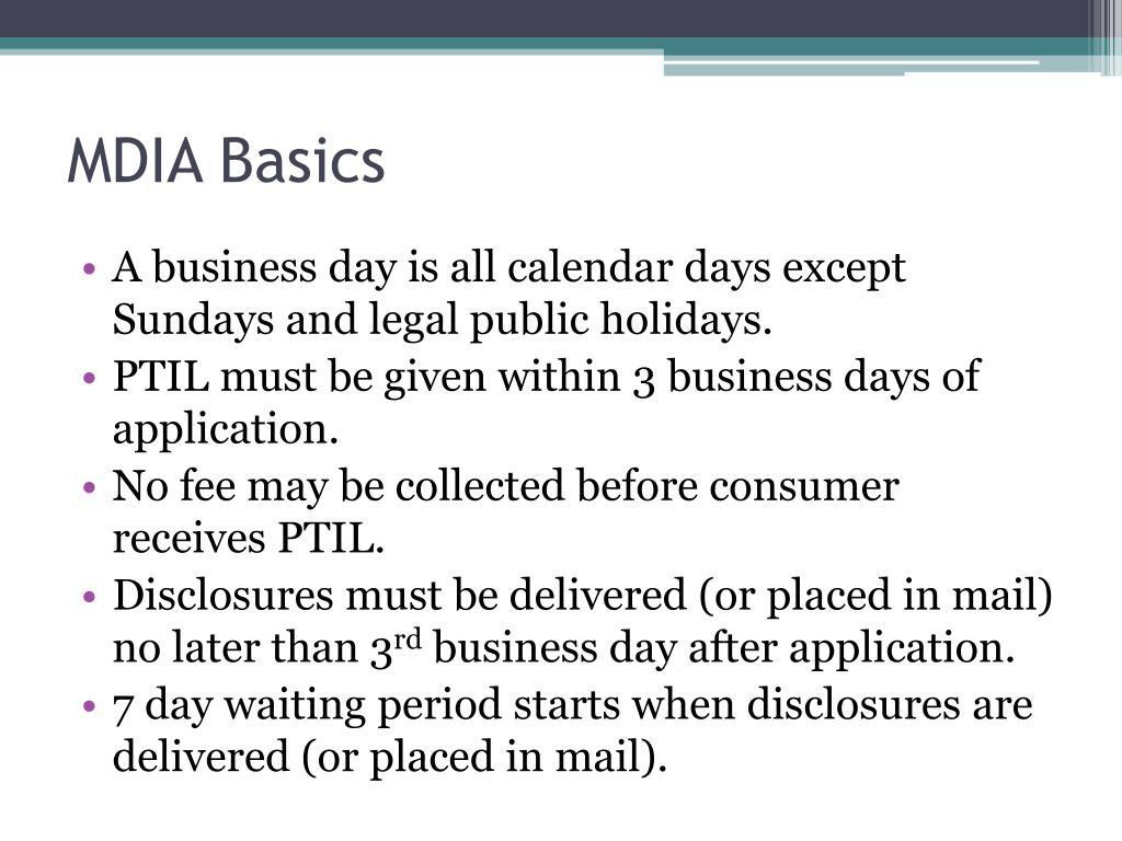MDIA Basics