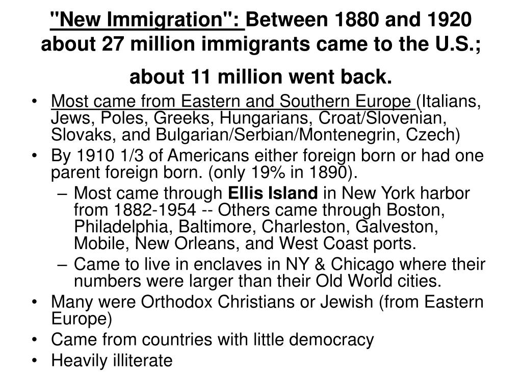 """New Immigration"":"