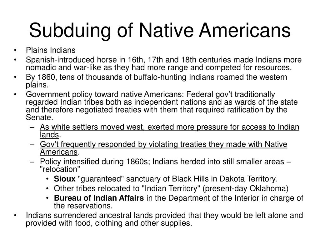 Subduing of Native Americans
