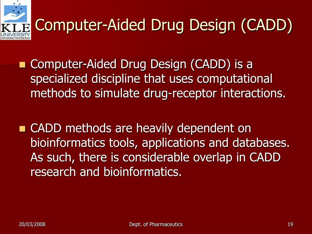 computer aided drug designing research papers Structural based drug designing in the research work human egfr was taken  as a protein and the commercially available drugs as a ligand(such as gemzar,.