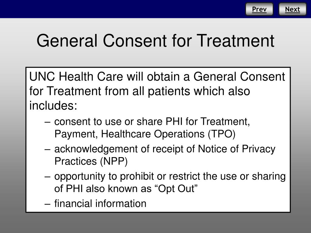 General Consent for Treatment